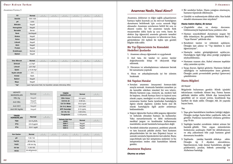 Genel Cerrahi Kitabı Örnek Sayfa - 1 (A5)
